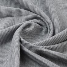 Silver Grey - Plain 100% Cotton 2x1 Rib